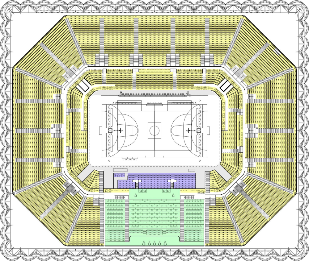 Architecture photography london 2012 basketball arena for Basketball floor plan