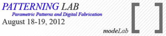 modeLab Patterning Lab: Parametric Patterns and Digital Fabrication Workshop