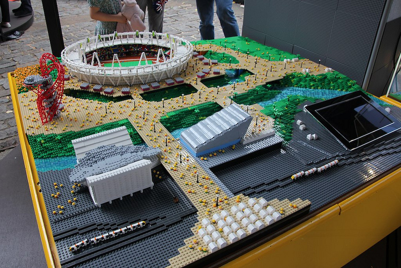 Olympic Park replica made from LEGOs