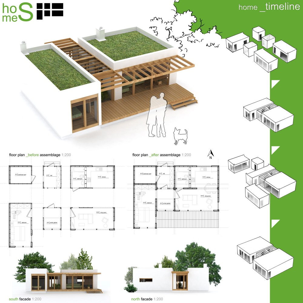 Winners of habitat for humanity 39 s sustainable home design for Small house design competition