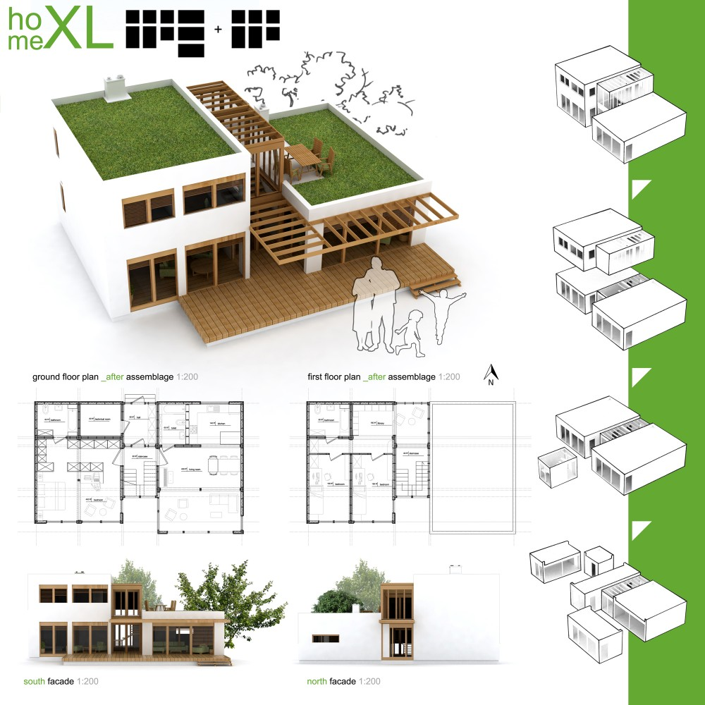 Winners of habitat for humanity s sustainable home design for Architecture house design competitions