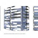 UNStudio diseña 'V de Shenton' el nuevo edificio de la UIC en Singapur (16) Patrón Fachada Residencial © UNStudio