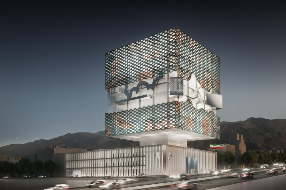 Tehran Stock Exchange Competition Entry / Hans Hollein & Partner