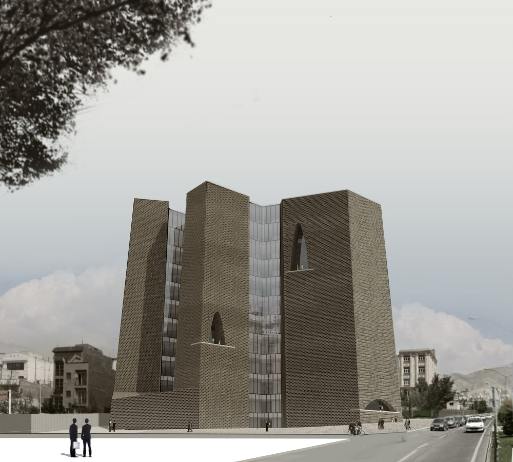 Tehran Stock Exchange Competition, 1st Prize: Alejandro Aravena Architects & VAV Studio