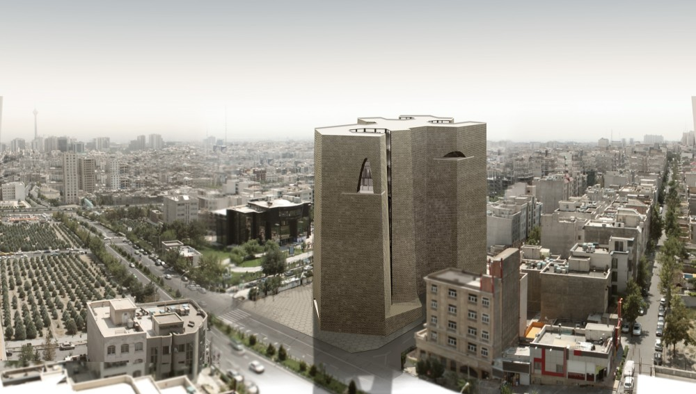 Tehran Stock Exchange Competition, 1st Prize: Alejandro Aravena Architects &#038; VAV Studio