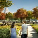 National Mall Design Winning Proposal (4) view from native garden  GGN / Methanoia