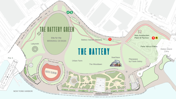 New York City's The Battery Conservancy announces International Design Competition
