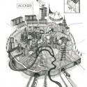 """Bienal de Venecia 2012: Pabellón Británico presenta """"Venecia Takeaway"""" (2) Moscú, dibujo de Gibb, 2012 / Anna Gibb - Cortesía del British Council"""