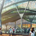 Amtrak and HOK reveal plans for a new Washington Union Station  (8) Escalators down to the Central Concourse - Courtesy of HOK