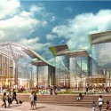 Amtrak and HOK reveal plans for a new Washington Union Station  (3) View from H Street - Courtesy of HOK