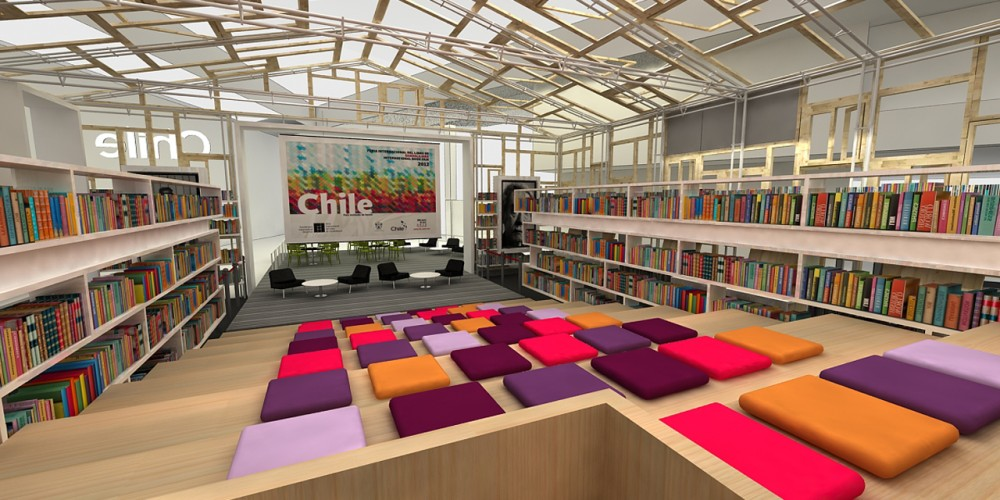 Chilean Pavilion at Guadalajara's International Book Fair / DAW