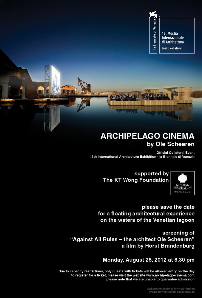 Venice Biennale 2012: Archipelago Cinema / Ole Scheeren