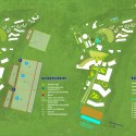 Diagram, Village Health Works 40-acre Master Plan / Louise Braverman, Architect Diagram, Village Health Works 40-acre Master Plan; Courtesy of Louise Braverman Architect