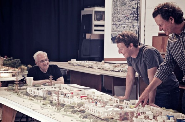 Frank Gehry designs Facebook Headquarters (1) © Frank Gehry/Gehry Partners via Bloomberg (2)