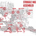Venice Biennale 2012: Croatian Pavilion (5) Map of the struggle machine assembled - Courtesy of Pulska grupa