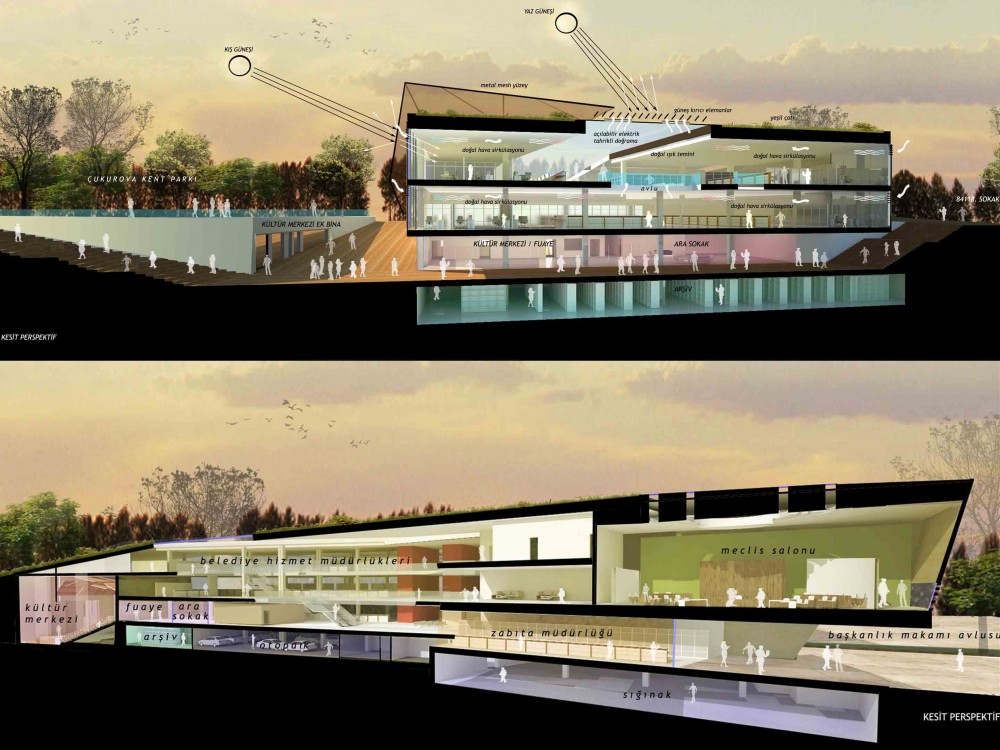 Adana City Hall and Cultural Center / MTF Proje
