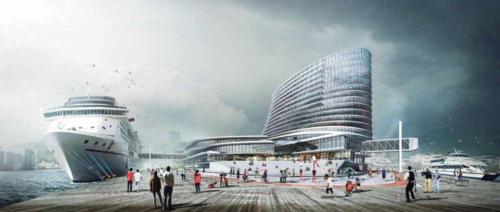 Joint Office Building and Passenger & Cargo Terminal Proposal / de Architekten Cie.