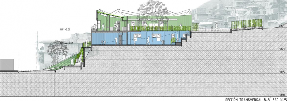 Kindergarten Plan Elevation Section : Santo domingo savio kindergarten modern desert homes