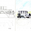 Ofunato Civic Center and Library / Chiaki Arai Urban and Architecture Design Sketch 02