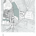 New wing of the Charleroi Museum of Photography / L'Escaut Architectures Site Plan 01