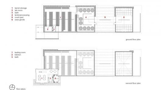 Kukkula winery studio b architects archdaily for Winery floor plans by architects
