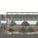 GateWay Community College / SmithGroup JJR East Elevation 01