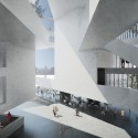 Venice Biennale 2012: Architecture as New Geography / Grafton Architects, Silver Lion Award (36) Perspective of the central space of the new building for the Ecole d&#039;conomie de Toulouse - TSE, UT1C, Toulouse France / Grafton Architects - Image courtesy of Grafton Architects