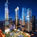 Ground Zero Master Plan / Studio Daniel Libeskind (2) WTC Site Night, Silverstein Properties, New York  Silverstein Properties