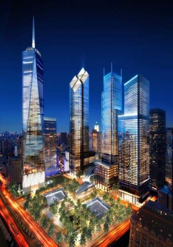 WTC Site Night, Silverstein Properties, New York © Silverstein Properties