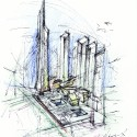 Ground Zero Master Plan / Studio Daniel Libeskind (12) Master Plan Sketch  SDL