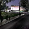 Studio Gang Breaks Ground on Arcus Center at Kalamazoo College (1) Night © Studio Gang Architects