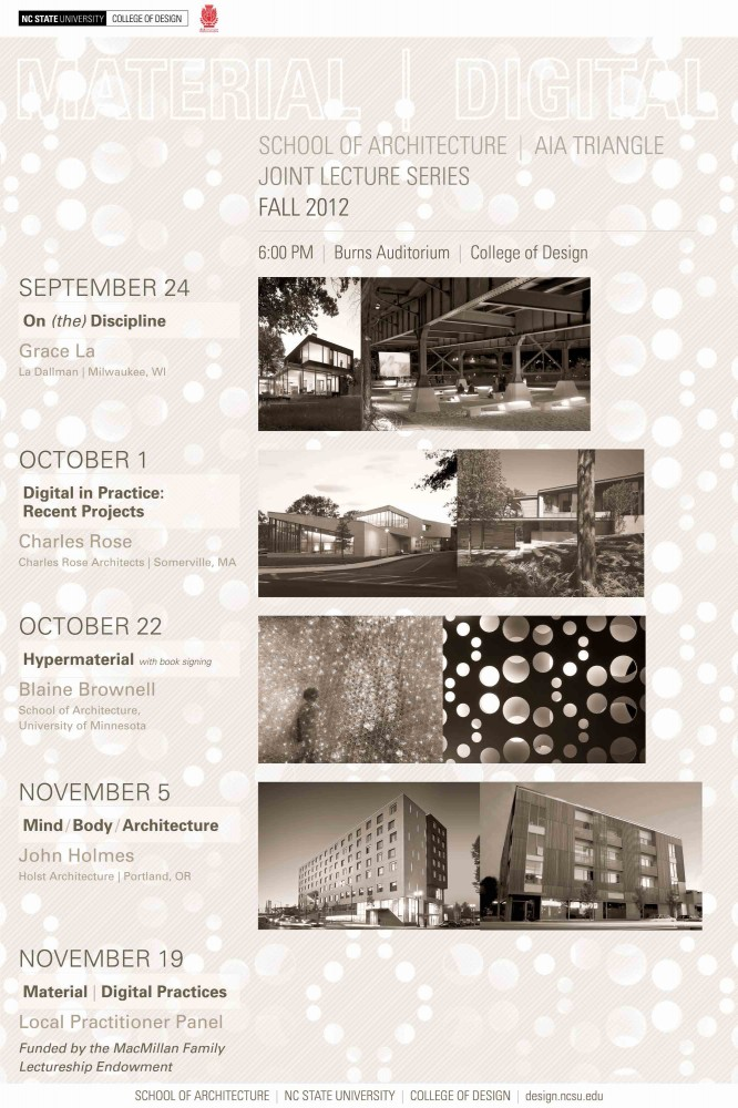 NC State University Fall 2012 Lecture Series