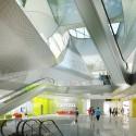 Keelung Harbor Building Service / Neil M. Denari Arquitectos (14) Lobby 3F Terminal - Cortesía de Neil M. Denari Arquitectos
