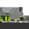 Keelung Harbor Building Service / Neil M. Denari Arquitectos (18) Elevación - Cortesía de Neil M. Denari Arquitectos