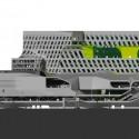 Keelung Harbor Building Service / Neil Denari Arquitectos M. (17) Elevación - Cortesía de Neil M. Denari Arquitectos