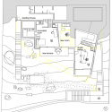 Atelier Gados / Rahbaran Hürzeler Architekten (28) Plan of new studio level. Yellow lines represent the existing house before the intervention.