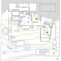 Atelier Gados / Rahbaran Hürzeler Architekten (28) Plan of new studio level. Yellow lines represent the existing house before the intervention.