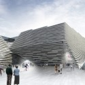 V&A at Dundee / Kengo Kuma & Associates (3) Main entrannce and Museum square © Kengo Kuma & Associates