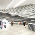 V&A at Dundee / Kengo Kuma & Associates (12) Main hall with grand staircase © Kengo Kuma & Associates