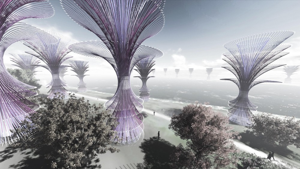 &#8216;Wind Fountain&#8217; Competition Entry / Gembong Reksa Kawula
