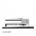 Jessie-Owens Gymnasium / Épicuria Architectes North Elevation 01
