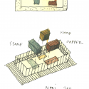 Wu Residence / Neri &amp; Hu Design and Reserch Office Sketch 01