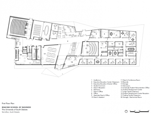 Architecture School Plan beacom school of business / charles rose architects | archdaily