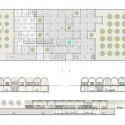 National Museum of Afghanistan Competition Winners (4) 1st prize / floor plans and sections - Courtesy of AV 62 Arquitectos