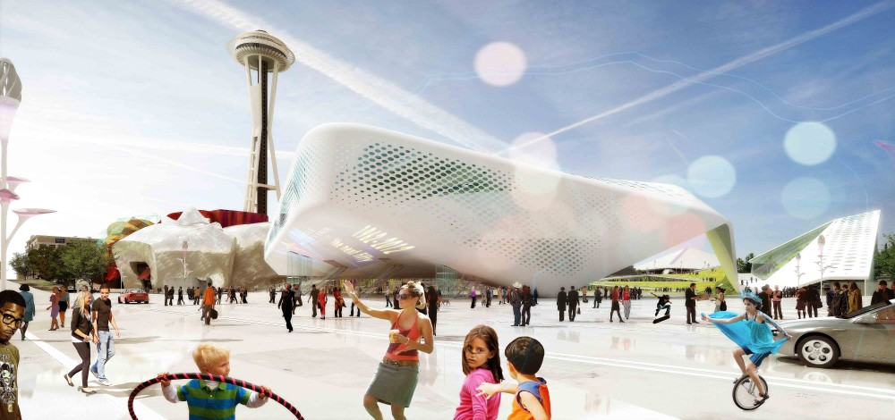 Seattle Center HUB (Hybrid Urban Bioscape) Competition Entry / Aétrangère