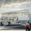 OMA wins competition for new engineering school in France (9) Entrance from the metro station - Image courtesy of OMA