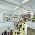 OMA wins competition for new engineering school in France (7) Public crossing through the LabCity - Image courtesy of OMA
