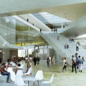 OMA wins competition for new engineering school in France (8) The central block and the social areas - Image courtesy of OMA