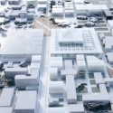 OMA wins competition for new engineering school in France (6) Overview of the ECP integrated in the urban plan - Image courtesy of OMA