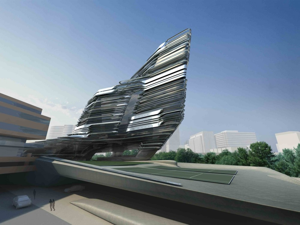 Innovation Tower, Hong Kong Polytechnic University / Zaha Hadid Architects